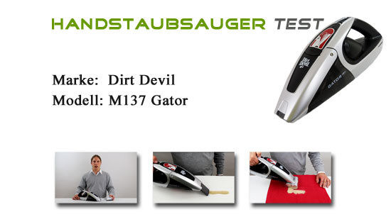 Dirt devil gator m137 test