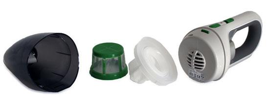 Staubbehälter und Filter